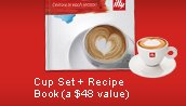 Cup Set + Recipe Book (a $48 value)