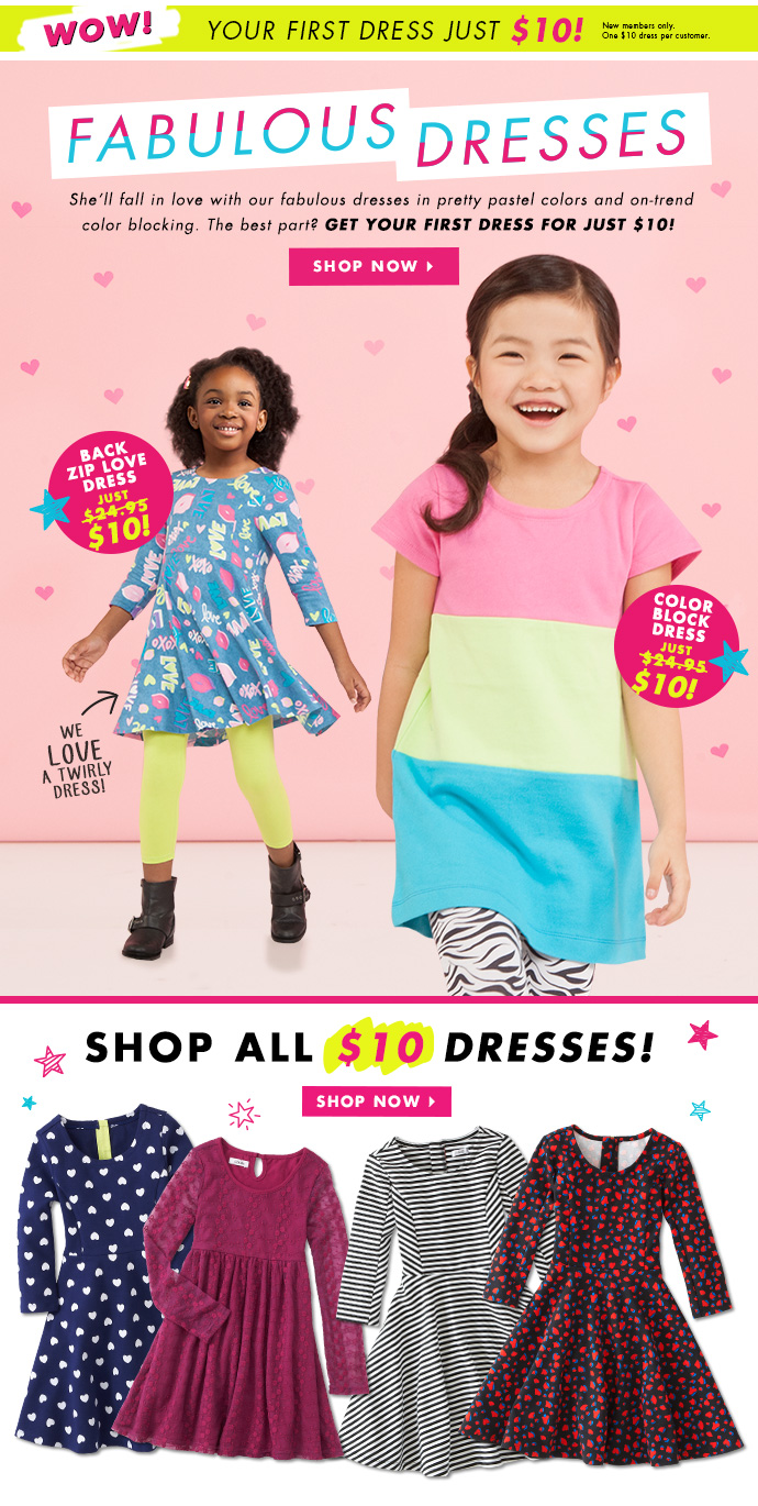 Fabulous Dresses Just $10!