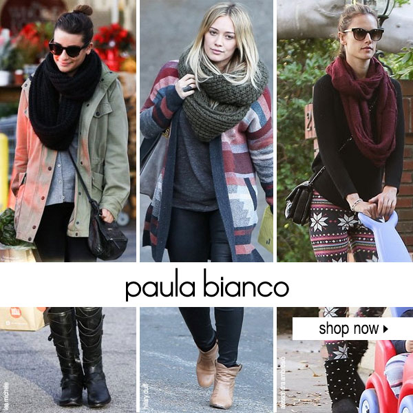 Stay warm in Paula Bianco scarves at Boutique To You!