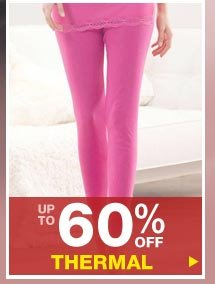 Up to 60% off Thermals
