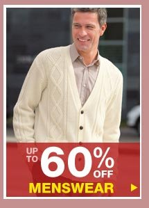 Up to 60% off Menswear