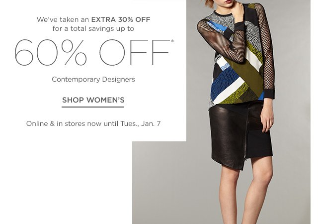 Up to 60% off Women's Contemporary Designers