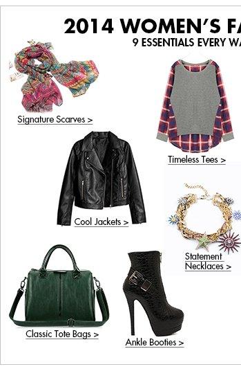 2014 WOMEN'S FASHIONTREND 9 Essentials Every Wardrobe Needs