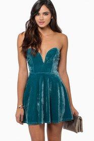 Sara Sweetheart Velour Dress 36
