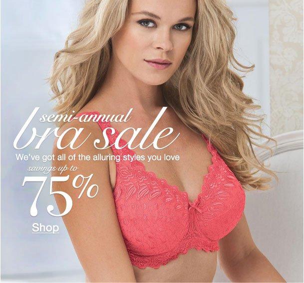 semi-annual bra sale savings up to 75%
