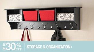 Up to 30% off Storage & Organization