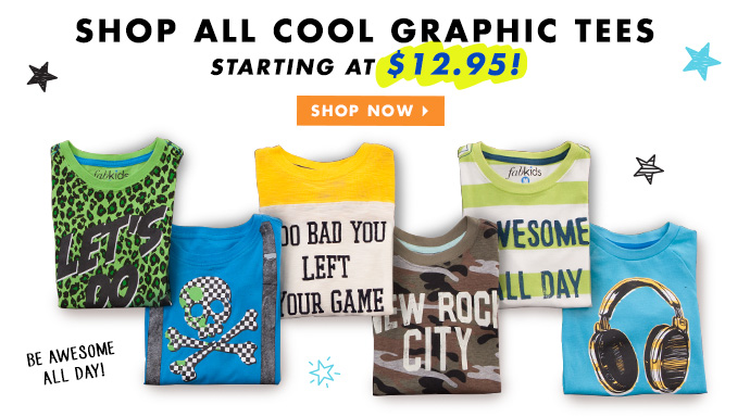 Shop All Graphic Tees Starting At Just $16.95!