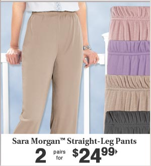 Straight Leg Pants 2 pairs for $24.99
