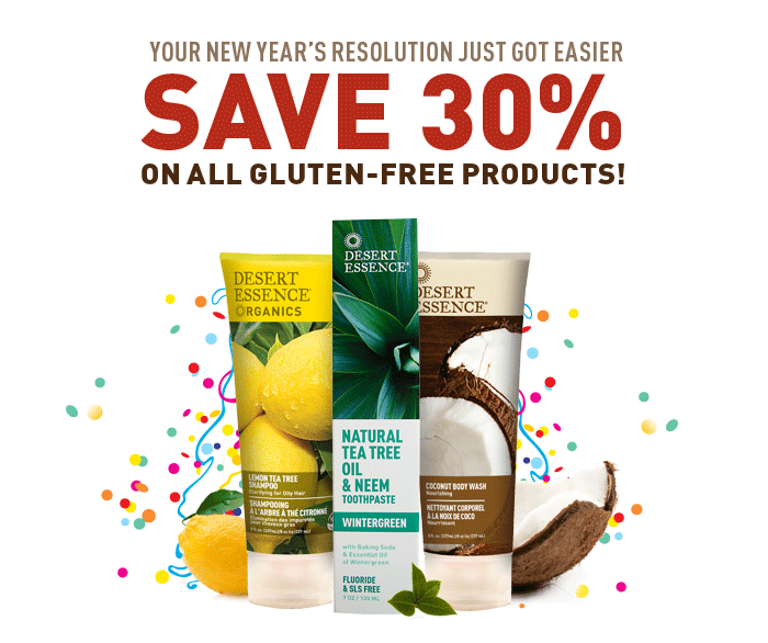 Save 30% on all Gluten Free Products!