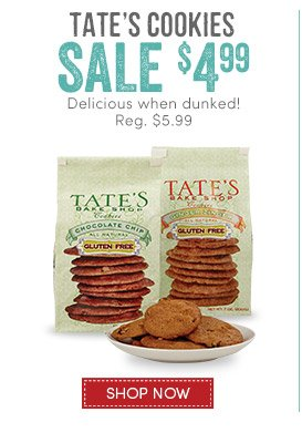 1 Day (1/8) Only: Tate's Cookies - $4.99
