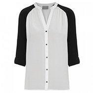 PYRUS - Alexis monochrome silk chiffon blouse