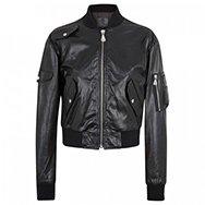 MCQ ALEXANDER MCQUEEN - Leather bomber jacket
