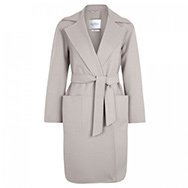 MAXMARA - Belted wool and angora blend coat