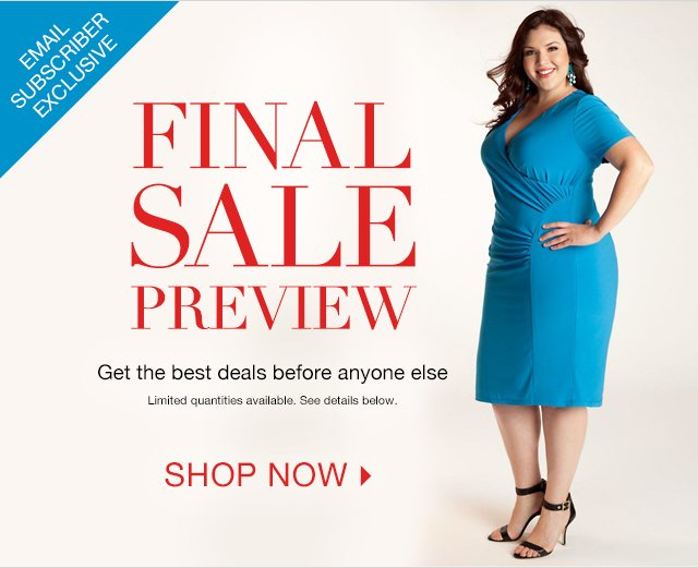Email Subscriber Preview: Shop the Final Sale Now!