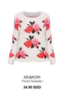 KEI&KORI Floral Sweater