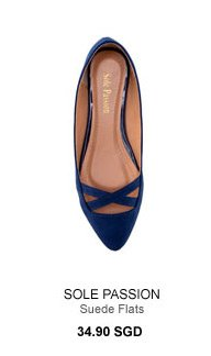 SOLE PASSION Suede Flats