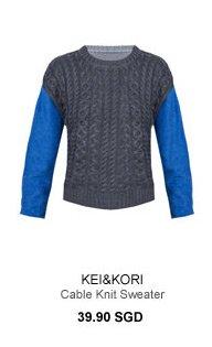 KEI&KORI Cable Knit Sweater