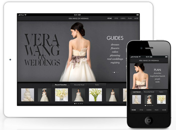Vera Wang on Weddings App