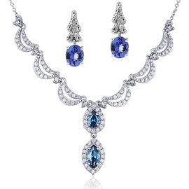 Blue Topaz & Tanzanite: Jewelry