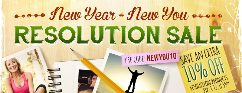 New Year, New You Resolution Sale