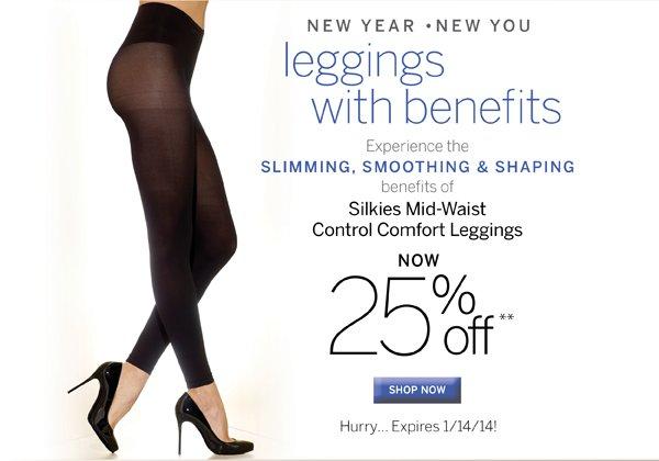 25% Off Silkies Mid Waist Control Comfort Leggings