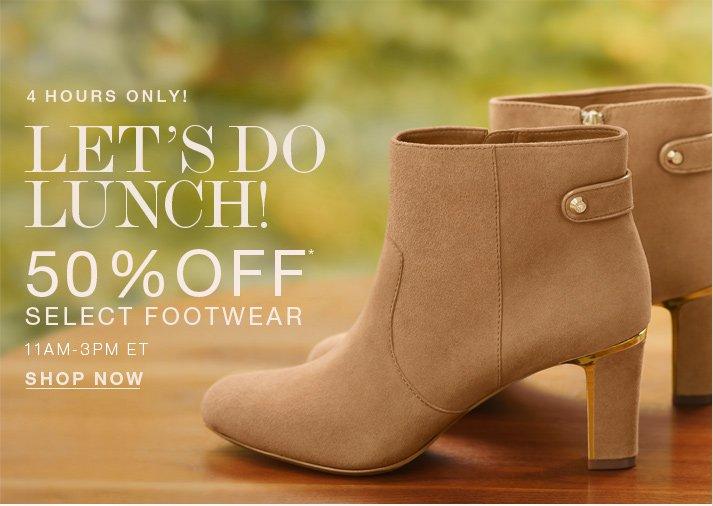 50% off footwear*