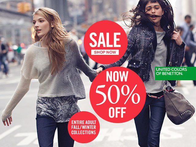 All collections for Women and Men are now 50% Off!