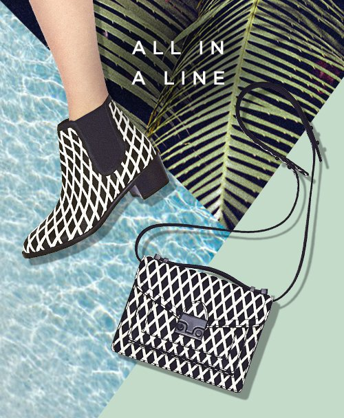 Shop Graphic Crosshatch Printed Shoes and Handbags at the Official Loeffler Randall Store www.LoefflerRandall.com