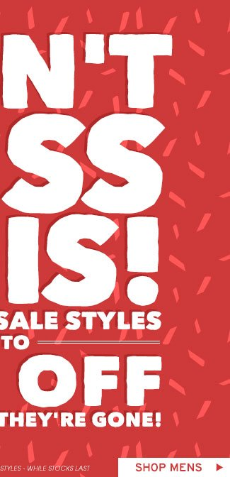 Shop Mens Over 6000 Styles On Sale