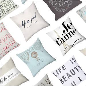 Pillow Talk: Throw Pillows with Joyful Phrases