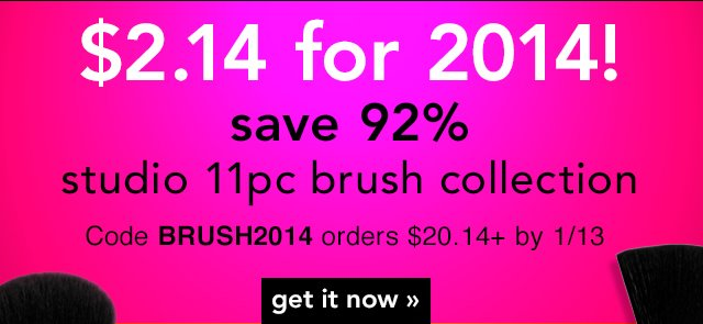 Studio 11 Piece Brush Collection  - $2.14 For 2014!