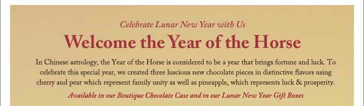 Celebrate Lunar New Year with Us | Welcome the Year of the Horse