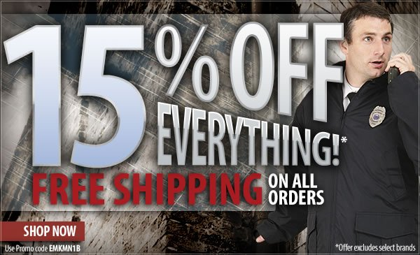 15 percent off Everything + Free Shipping On All Orders
