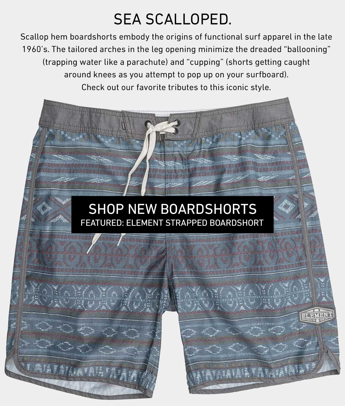Sea Scalloped: Shop New Boardshorts
