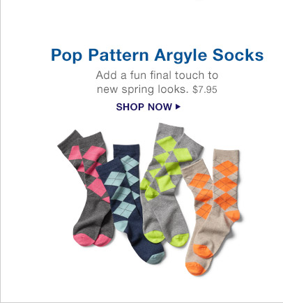 Pop Pattern Argyle Socks | SHOP NOW