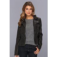 Free People Distressed Vegan Leather Peplum Jacket