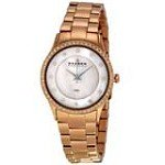 Skagen 347SRXR Women's Denmark Rose Gold Tone Stainless Steel White MOP Dial Watch