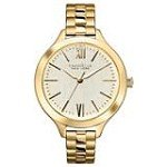 Caravelle 44L127 Womens New York Gold Plated Steel Gold Tone Dial Quartz Watch