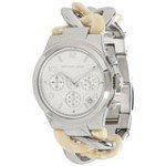 Michael Kors MK4263 Women's Runway Silver Dial Steel & Acrylic Twist Bracelet Chronograph Watch