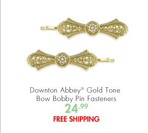 Downton Abbey® Gold Tone Bow Bobby Pin Fasteners 24.99 FREE SHIPPING