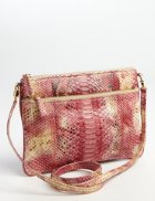 Python Top Zip Crossbody Bag