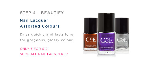 Step 4 Beautify. Shop All Nail Lacquers.