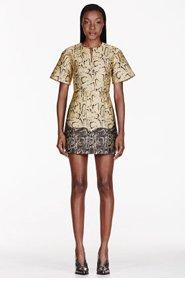 STELLA MCCARTNEY Gold Snake Print Dress for women