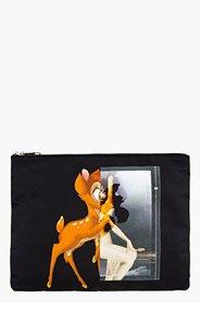 GIVENCHY Black nylon Bambi Mashup Print Pouch for men