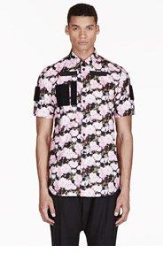 GIVENCHY Pink Velcro Rose Print Shirt for men