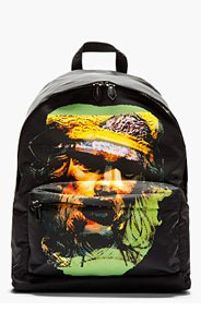 GIVENCHY Black & yellow printed MINOTAUR BACKPACK for men