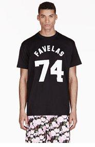 GIVENCHY Black Oversized Favelas Varsity T-Shirt for men