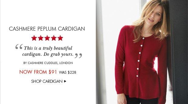 Download Images: Cashmere Peplum Cardigan