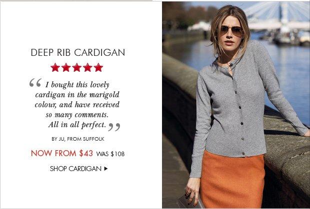 Download Images: Deep Rib Cardigan