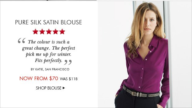 Download Images: Pure Silk Satin Blouse